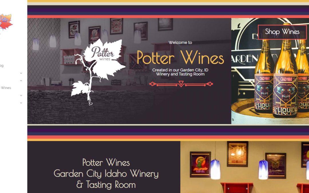 Potter Wines Web Design